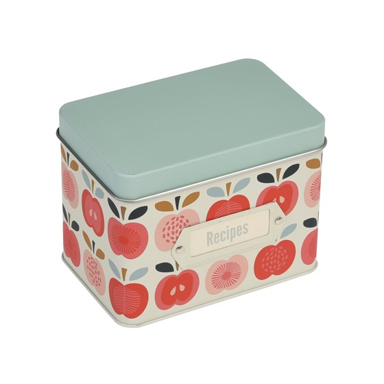 vintage apple recipe tin