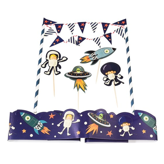 cake bunting space adventure