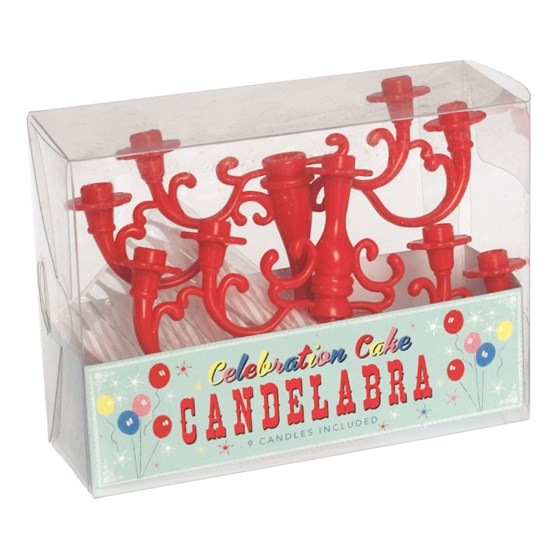 CELEBRATION CAKE RED CANDELABRA