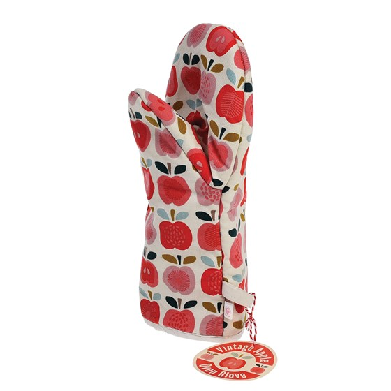 vintage apple oven glove