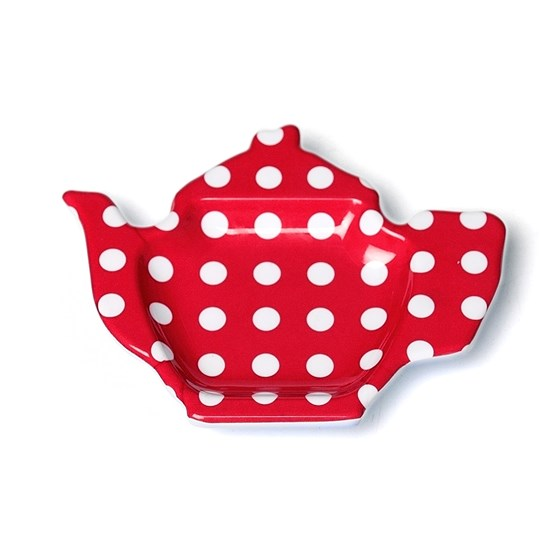 teabag plate red retrospot