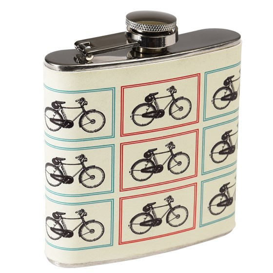 BICYCLE STAINLESS HIP FLASK