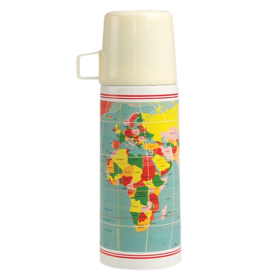 "thermosflasche ""vintage world map"""