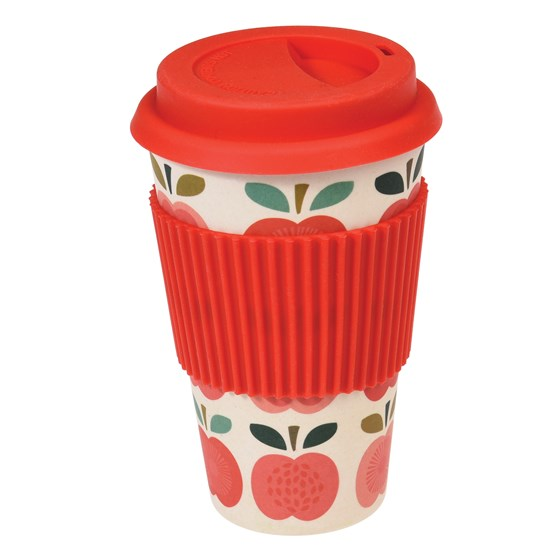 "coffee to go - becher aus bambus ""vintage apple"""
