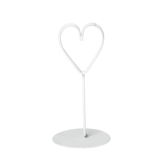 place setting white heart