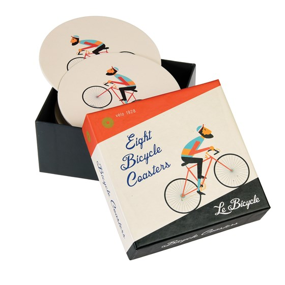 SET OF 8 LE BICYCLE COASTERS