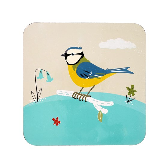 blue tit coaster