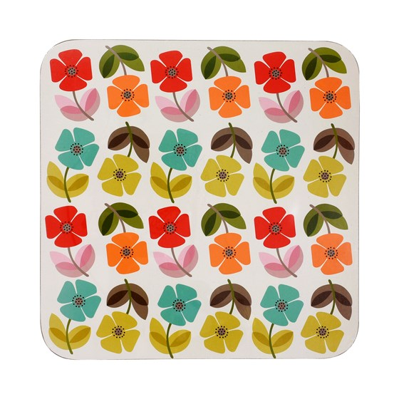 mid century poppy placemat