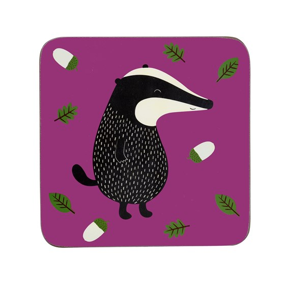"dessous de verre ""mr badger"""