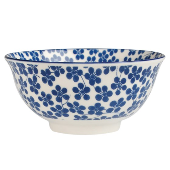 large japanese bowl blue nigella