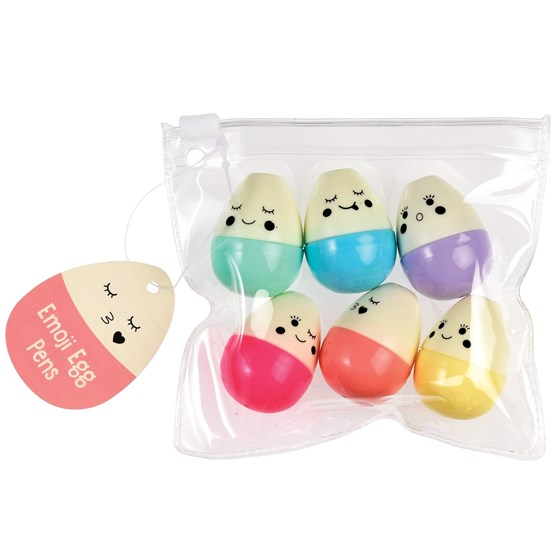 emoji egg pens (pack of 6)