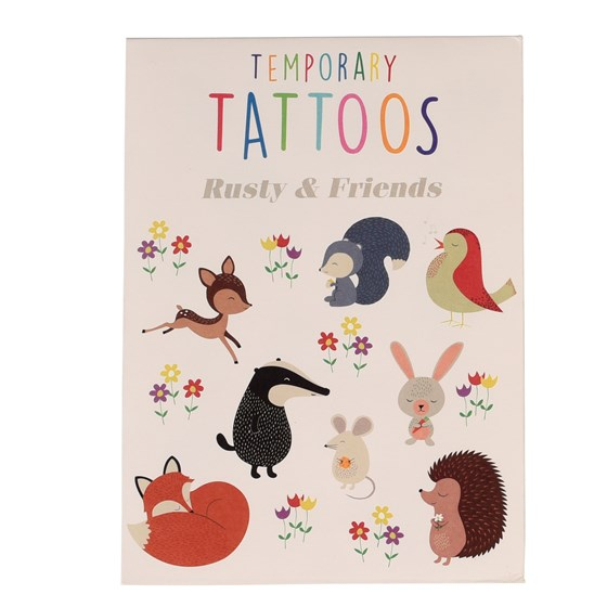 "tatouages temporaires ""rusty the fox and friends"""