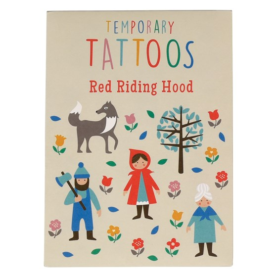 red riding hood tattoo set