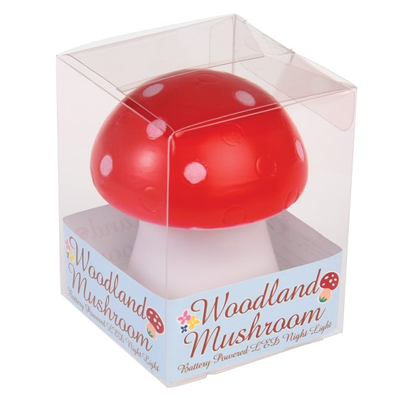red toadstool led night light
