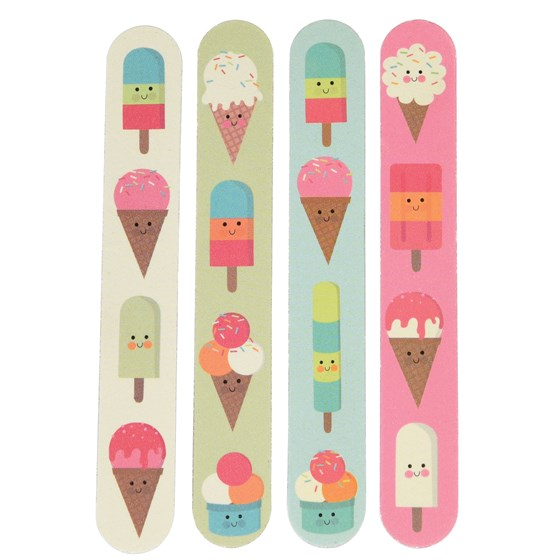 "set de 4 limes a ongles ""ice cream"""