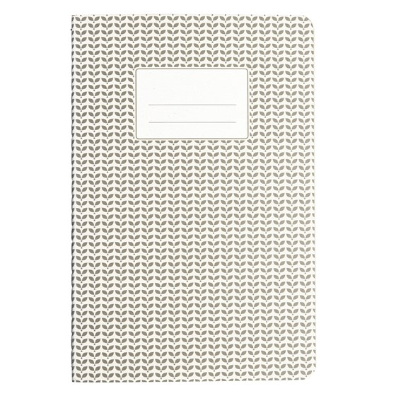 light grey a5 abstract notebook