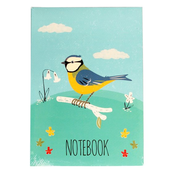 blue tit design a5 notebook