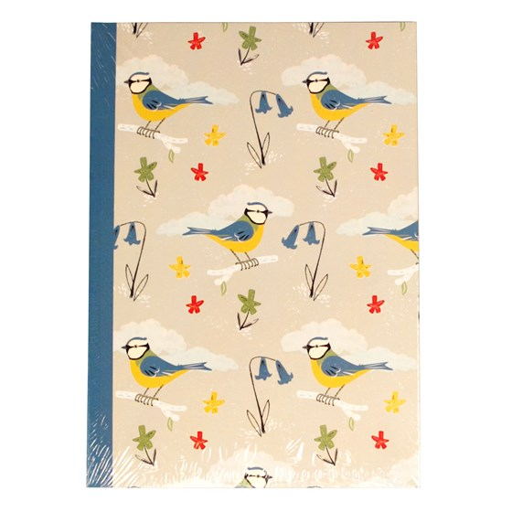 BLUE TITS DESIGN A5 NOTEBOOK