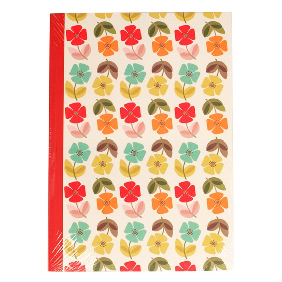 MID CENTURY POPPY A5 NOTEBOOK