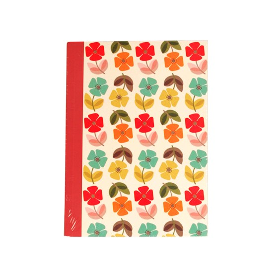mid century poppy a6 notebook