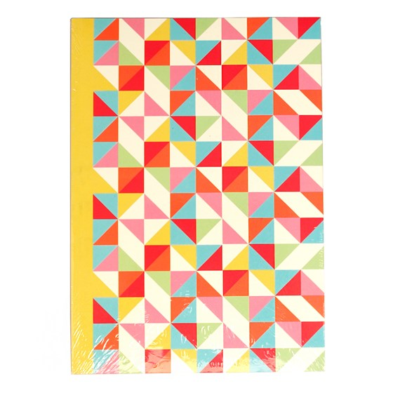 MULTICOLOUR GEOMETRIC NOTEBOOK