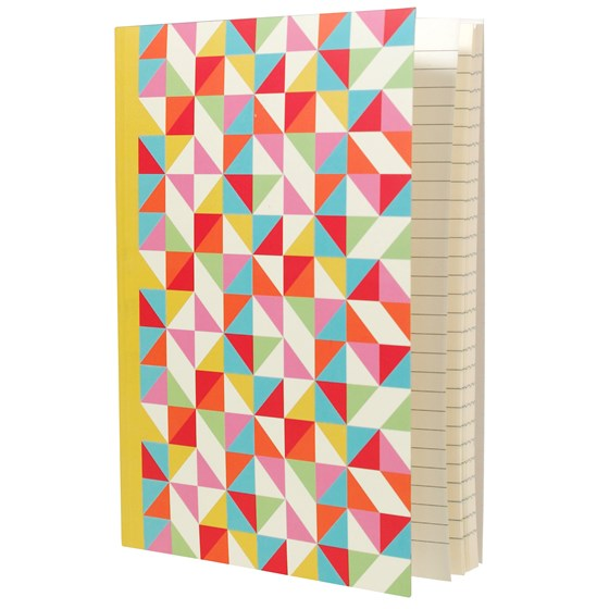 carnet de notes a5 multicolour geometric