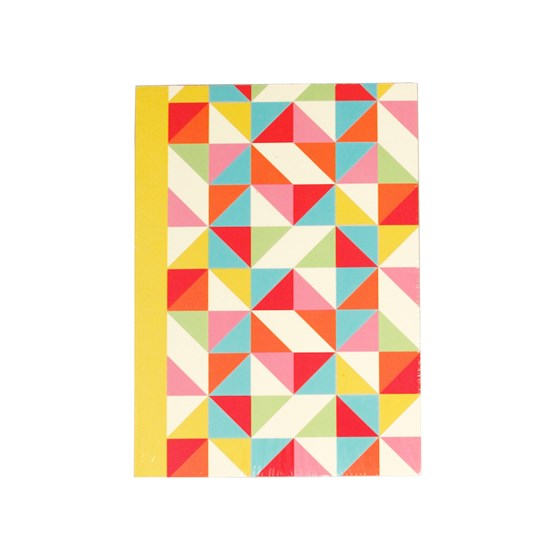multicolour geometric a6 notebook