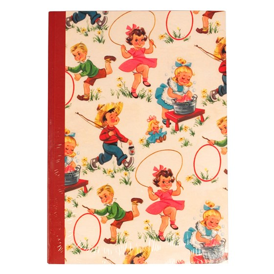vintage kids a5 notebook