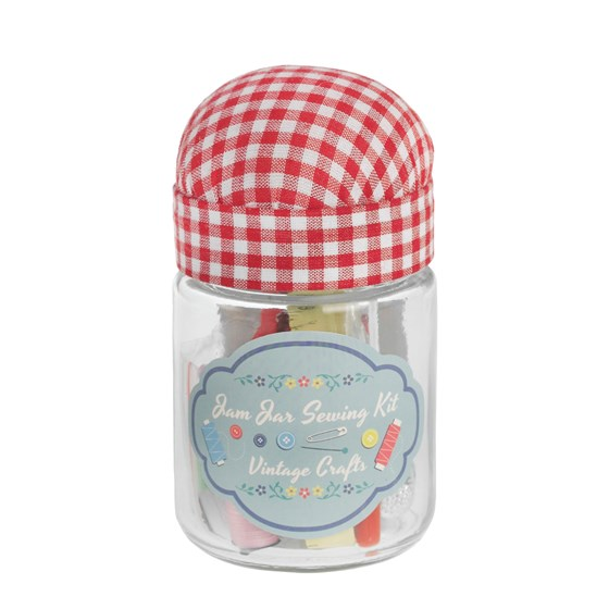 vintage crafts jam jar sewing kit