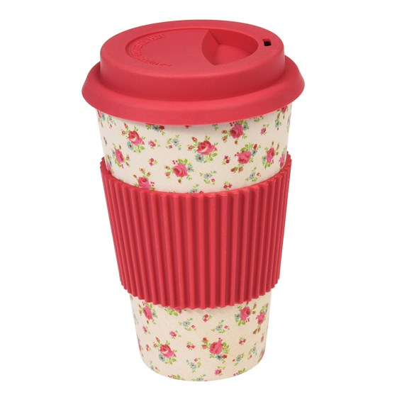 "coffee to go - becher aus bambus ""la petite rose"""