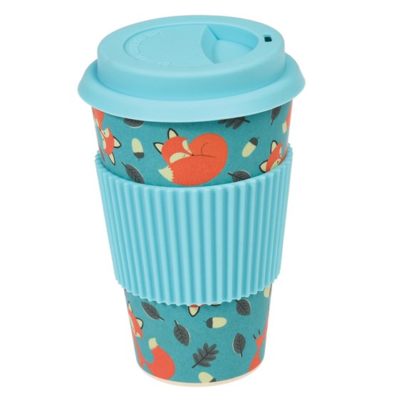 "coffee to go - becher aus bambus ""rusty the fox"""