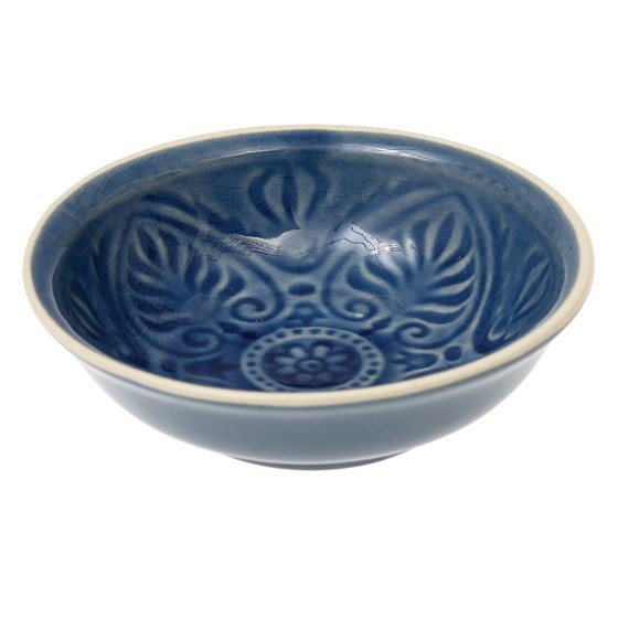 blue marrakesh dipping bowl