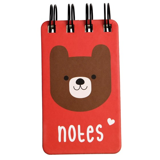 mini bear spiral notebook