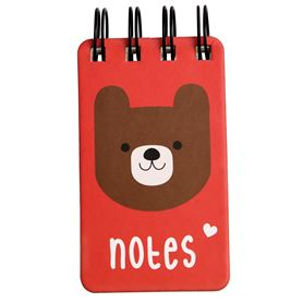 mini cuaderno bruno the bear