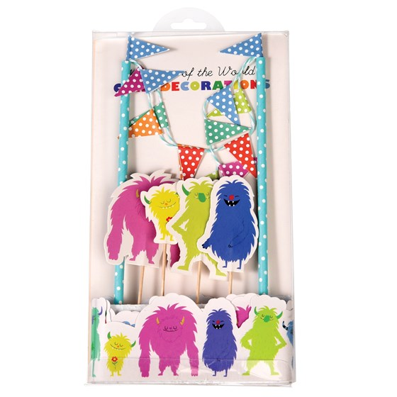 banderines para tarta monsters of the world cake bunting
