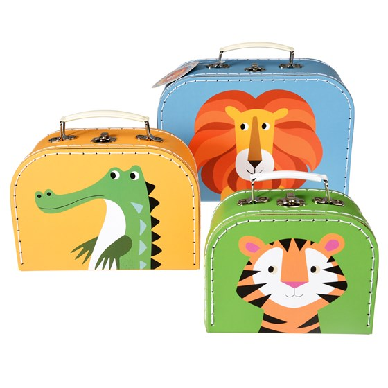 set of 3 colourful creatures cases