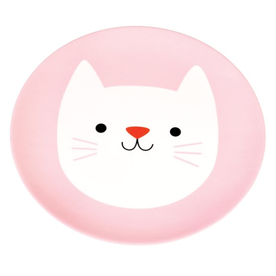 COOKIE THE CAT MELAMINE PLATE