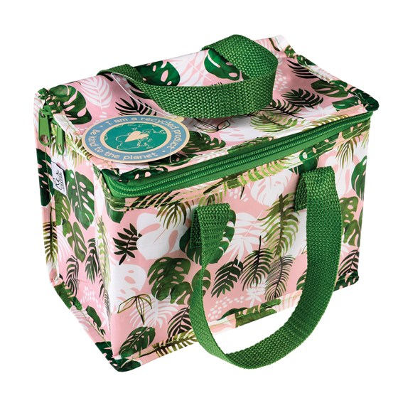 tropical palm lunch bag