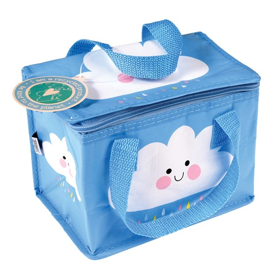 isolierte snacktasche happy cloud