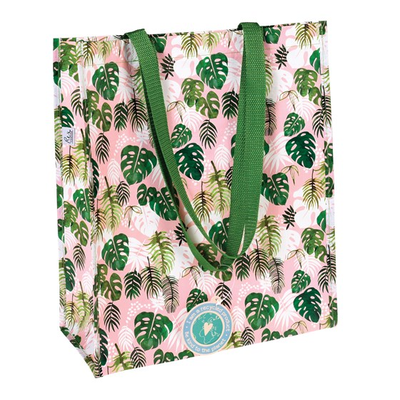 tropical palm shopping bag