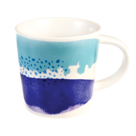 mug café en porcelaine into the blue