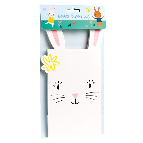 white easter bunny bag