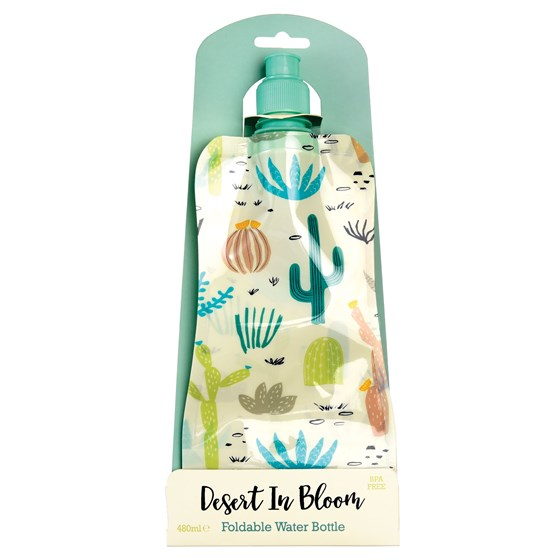 desert in bloom folding water bottle