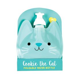 cookie the cat folding water bottle