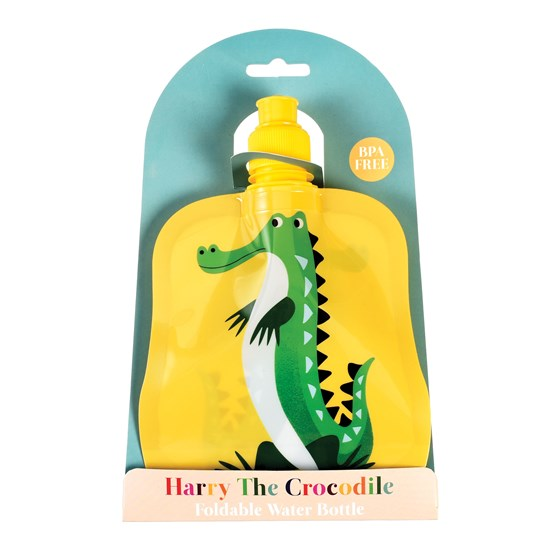 HARRY THE CROCODILE FOLDING WATER BOTTLE