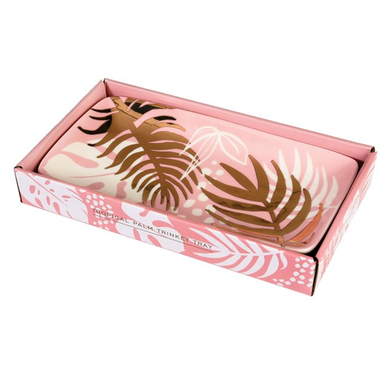 large tropical palm trinket tray