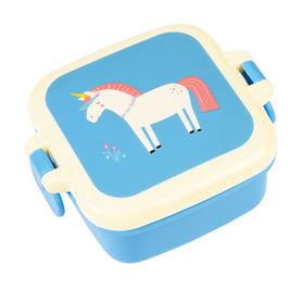 mini contenedor alimentos magical unicorn snack pot
