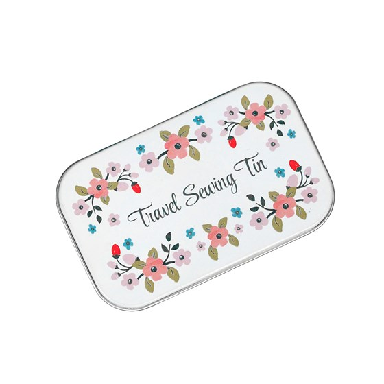 rose hip travel sewing tin