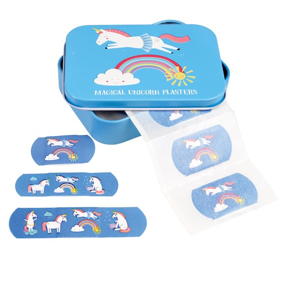 magical unicorn plasters in a tin (pack of 30)