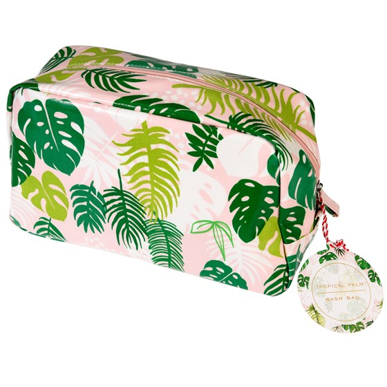 tropical palm wash bag